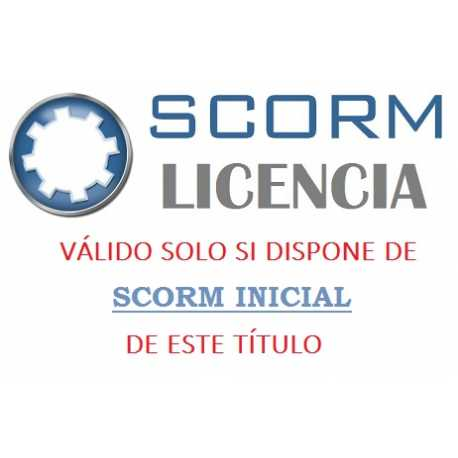 Scorm 1.2.  Licencia. Registro Retributivo